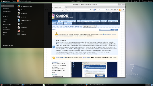 Find out what CentOS looks like !